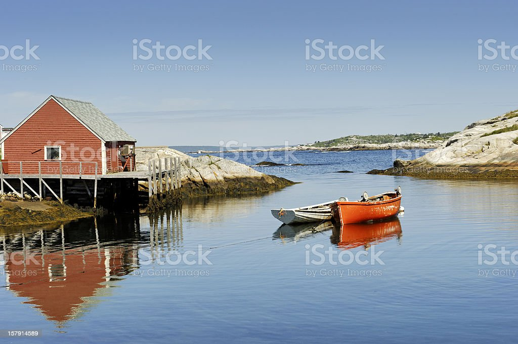 Peggy's Cove harbour near Halifax, Nova Scotia,Canada stock photo