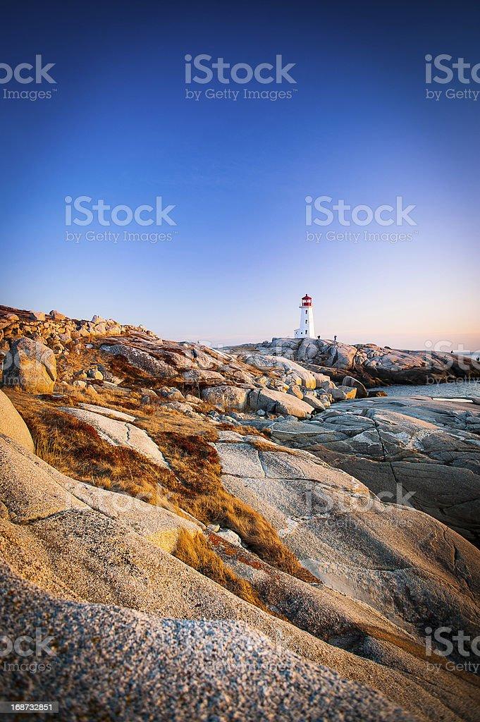 Peggys Cove Lighthouse in Nova Scotia royalty-free stock photo