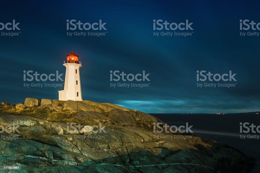 Peggy's Cove Lighthouse Nova Scotia royalty-free stock photo