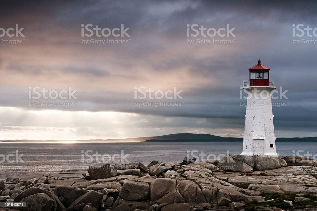 Peggy's Cove Lighthouse royalty-free stock photo