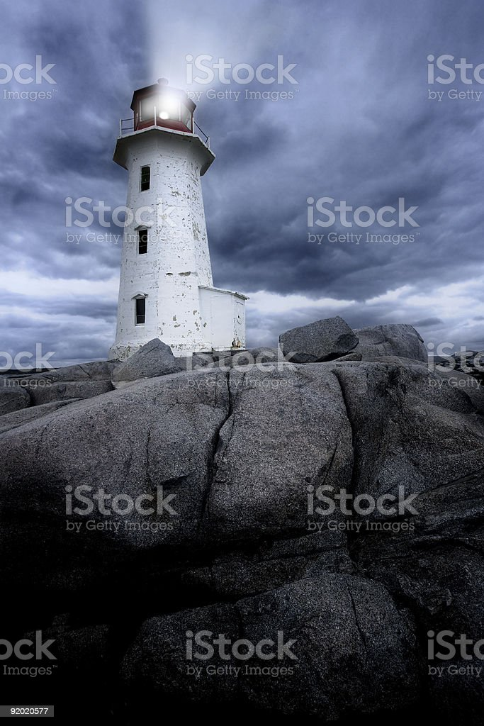 Peggy's Cove lighthouse stock photo