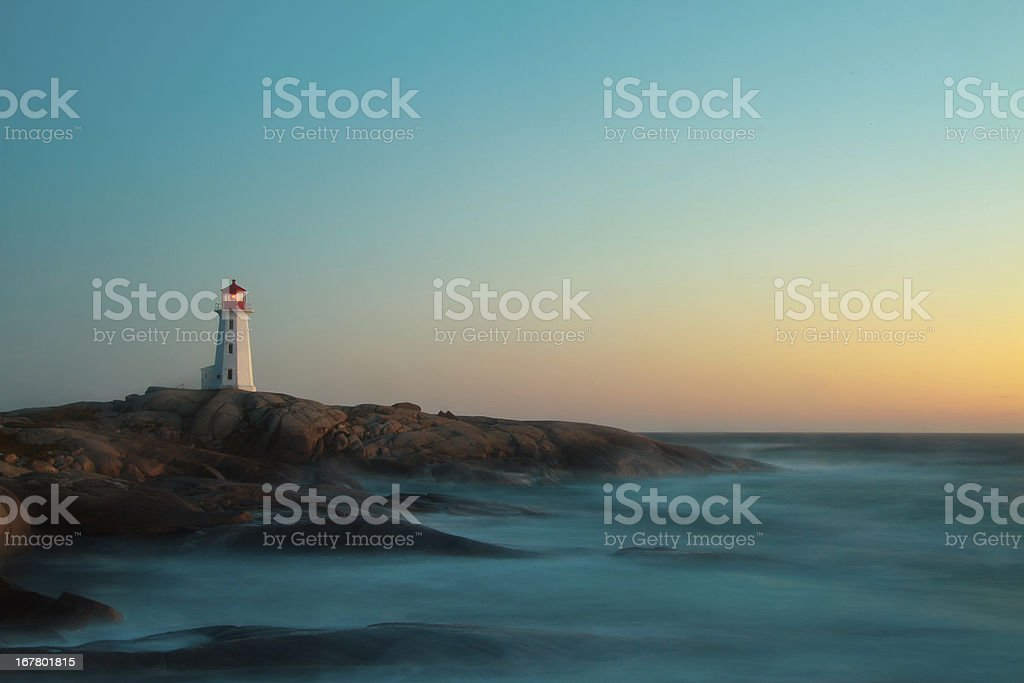 Peggy`s Cove Long Exposure stock photo
