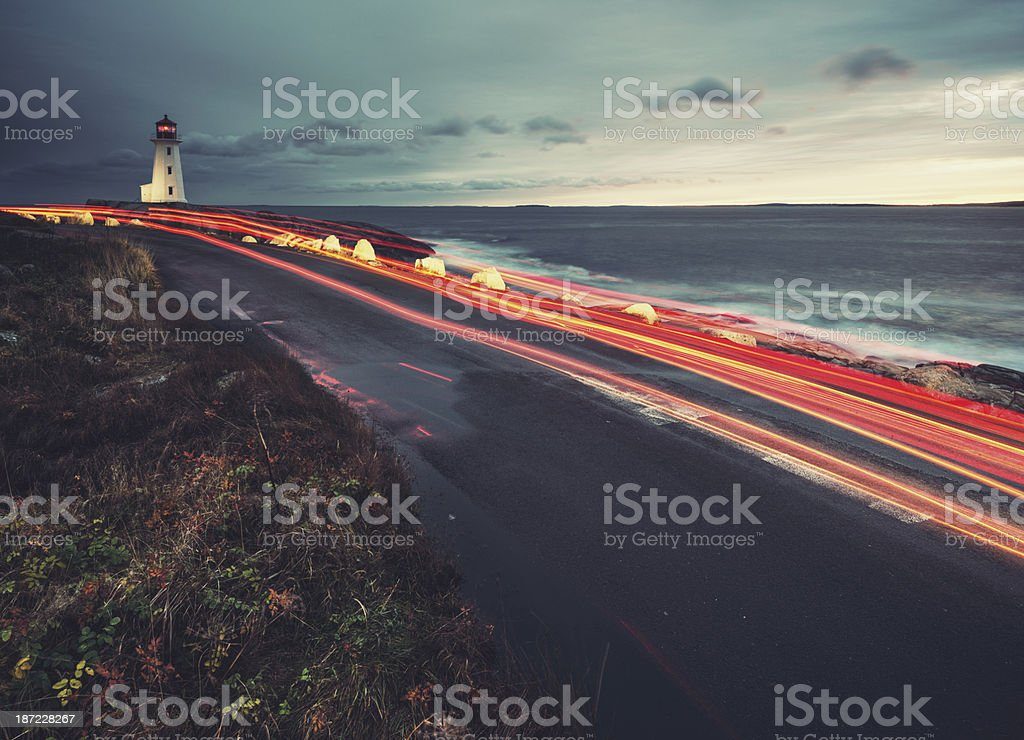Peggy's Cove Road royalty-free stock photo