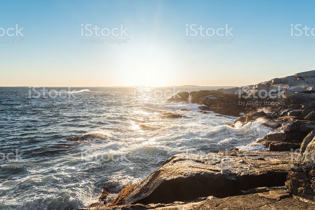 Peggys Cove shoreline stock photo