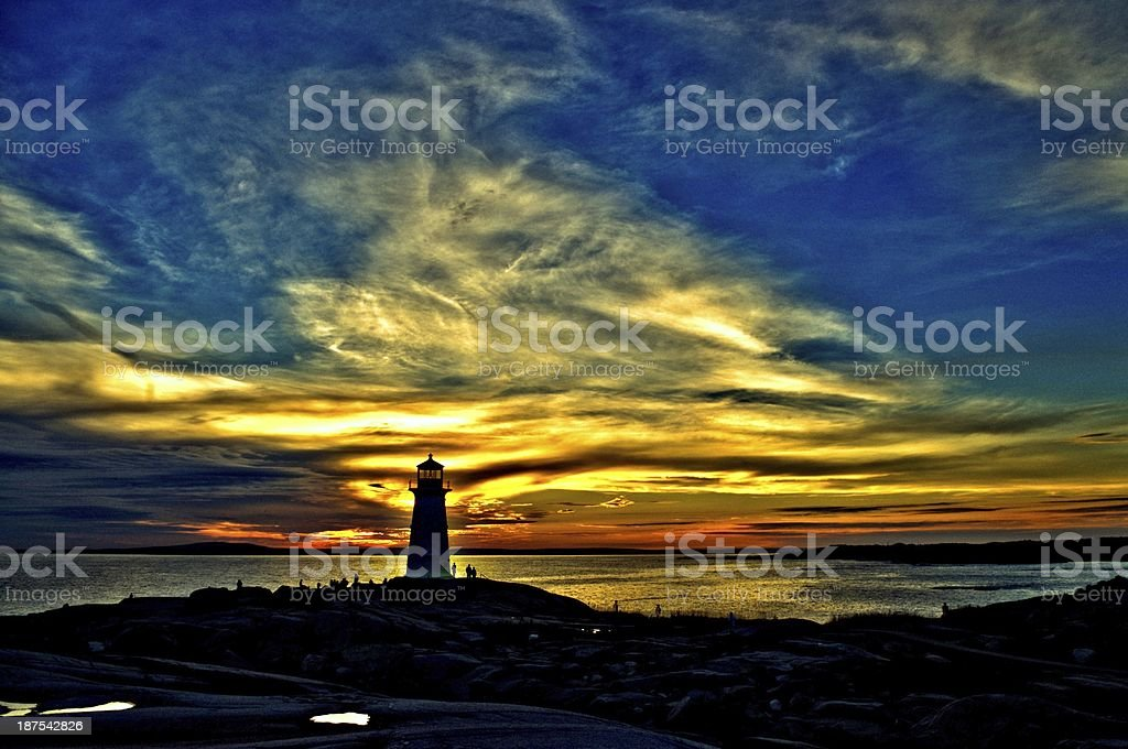 Peggys Cove Sunset stock photo