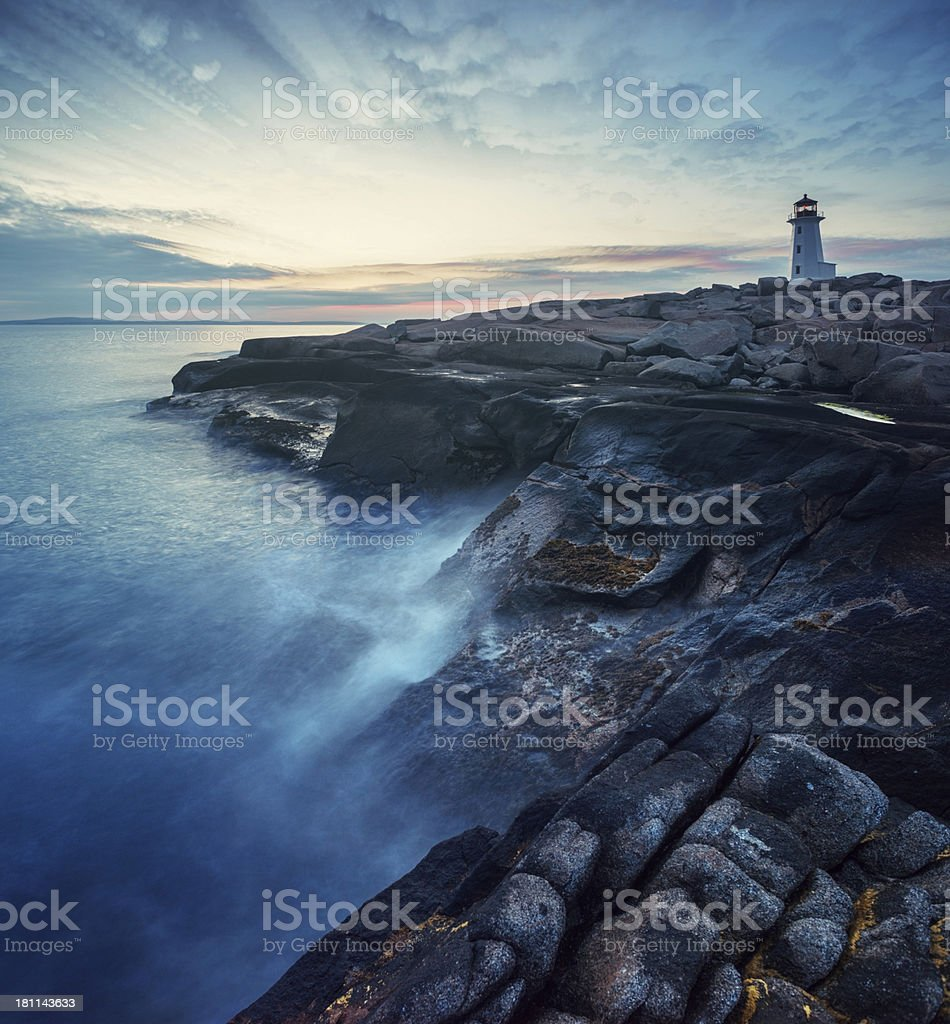 Peggy's Point in Twilight royalty-free stock photo