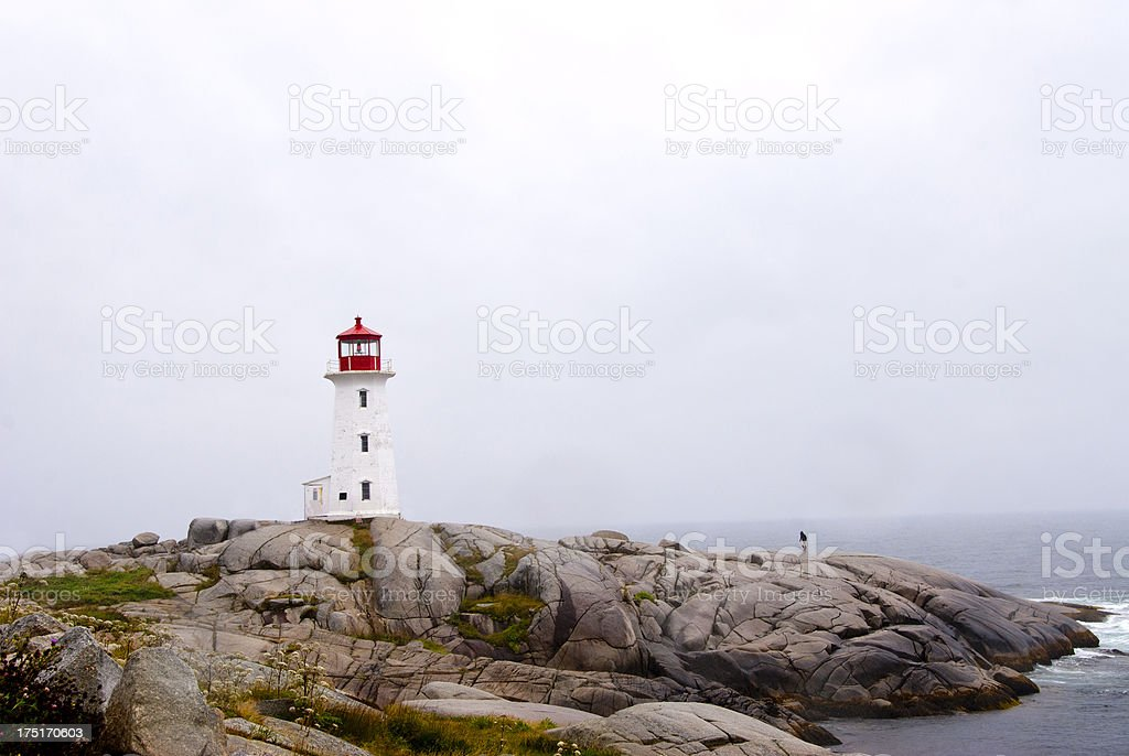 Peggy's Point Light royalty-free stock photo