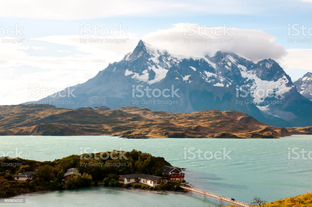 Pehoe Lake - Torres Del Paine National Park - Chile stock photo