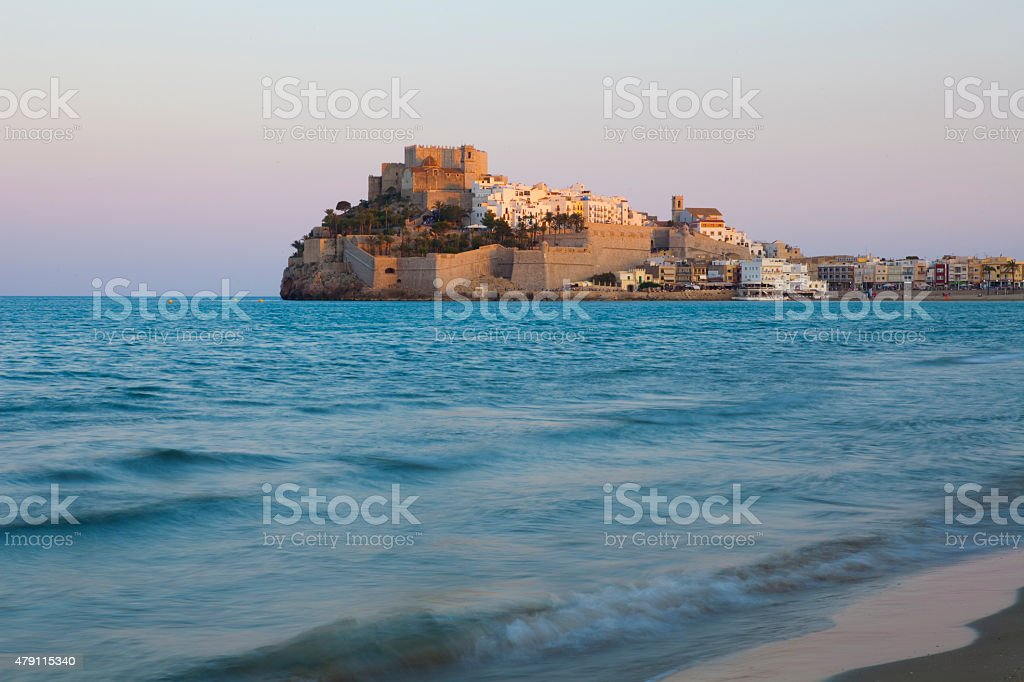 Pe?iscola sunset in Spain stock photo