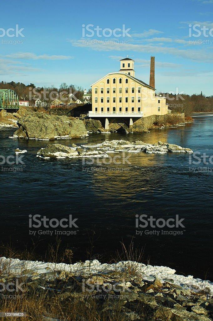 Pejepscot Paper Mill stock photo
