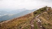 Pekelnik hill in autumn Mala Fatra mountains in Slovakia