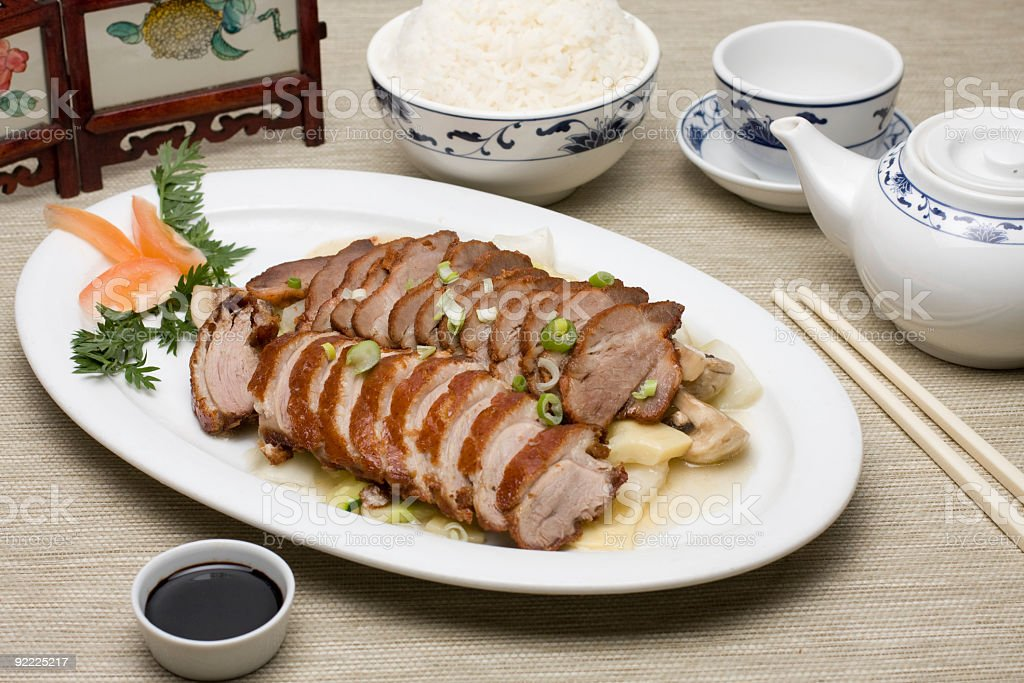 Peking Duck and pork combinations royalty-free stock photo