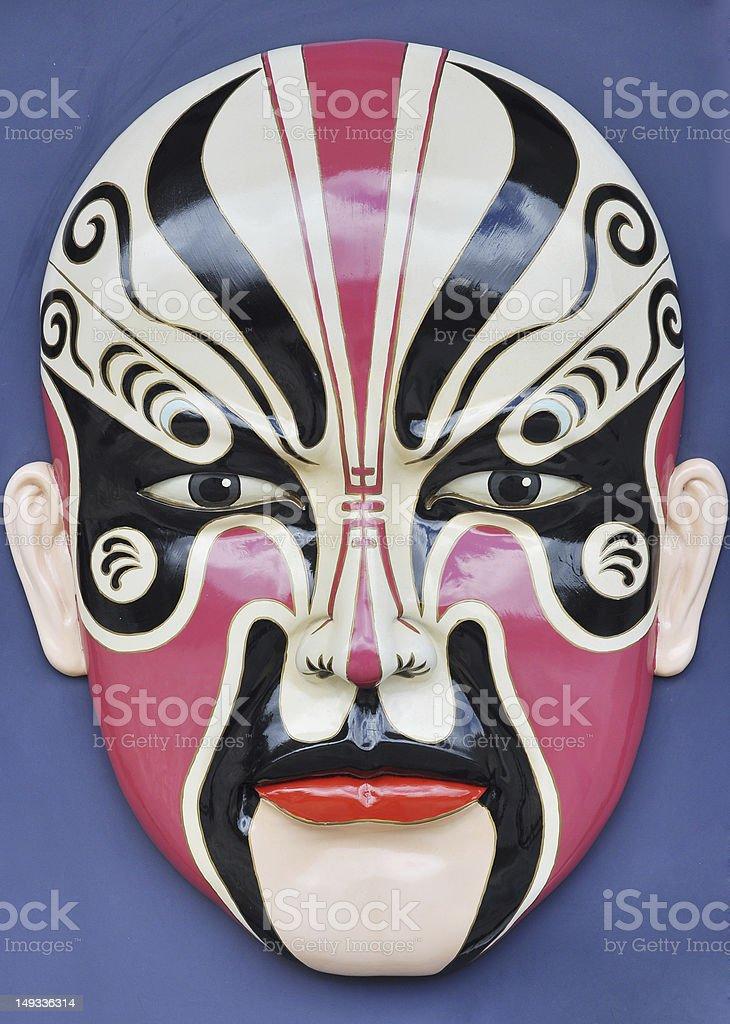 Peking opera facial makeup stock photo
