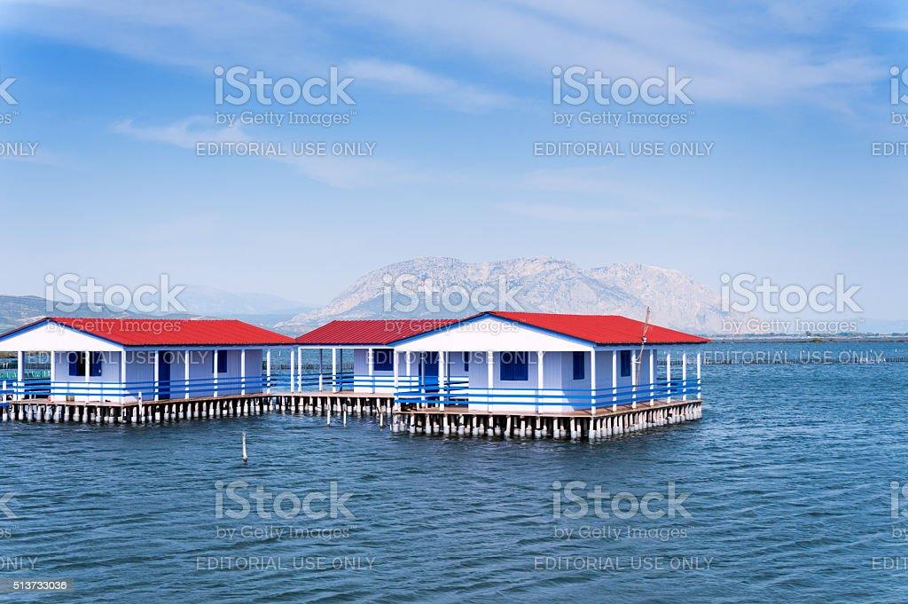 Pelada stilt house Tourlida Messolonghi stock photo