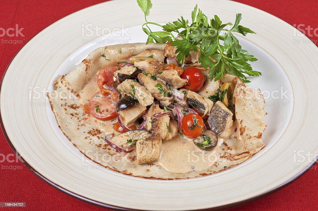 peled fish pancake royalty-free stock photo