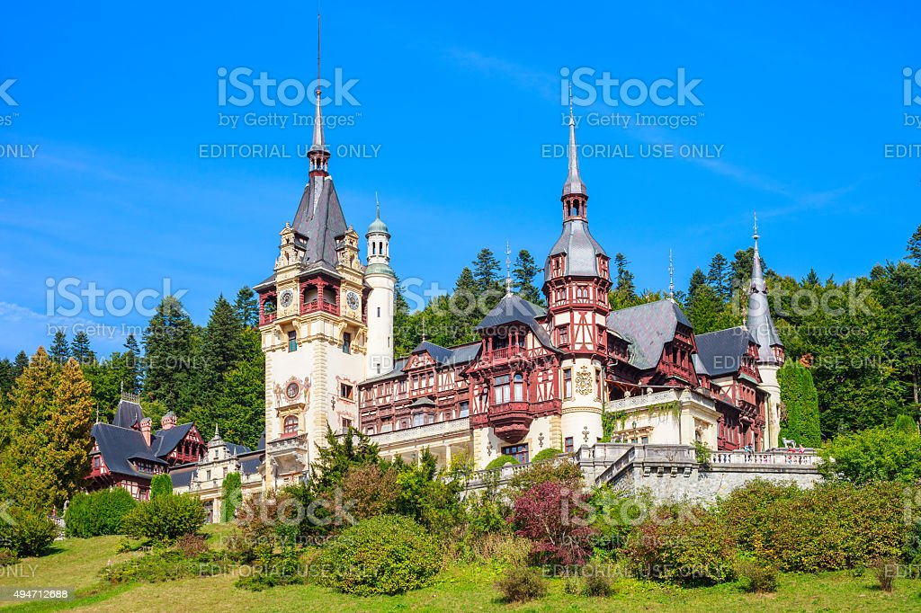 Peles Castle Romania stock photo