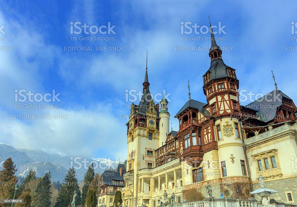 Peles castle, Sinaia, Romania stock photo