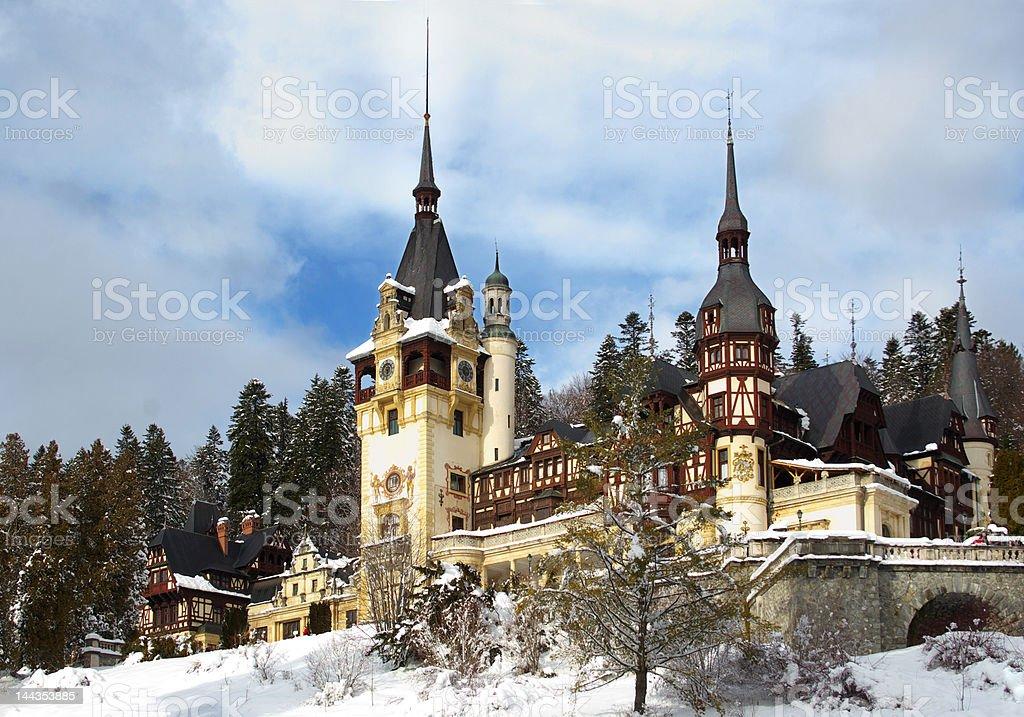 Pelesh Palas in Romania royalty-free stock photo
