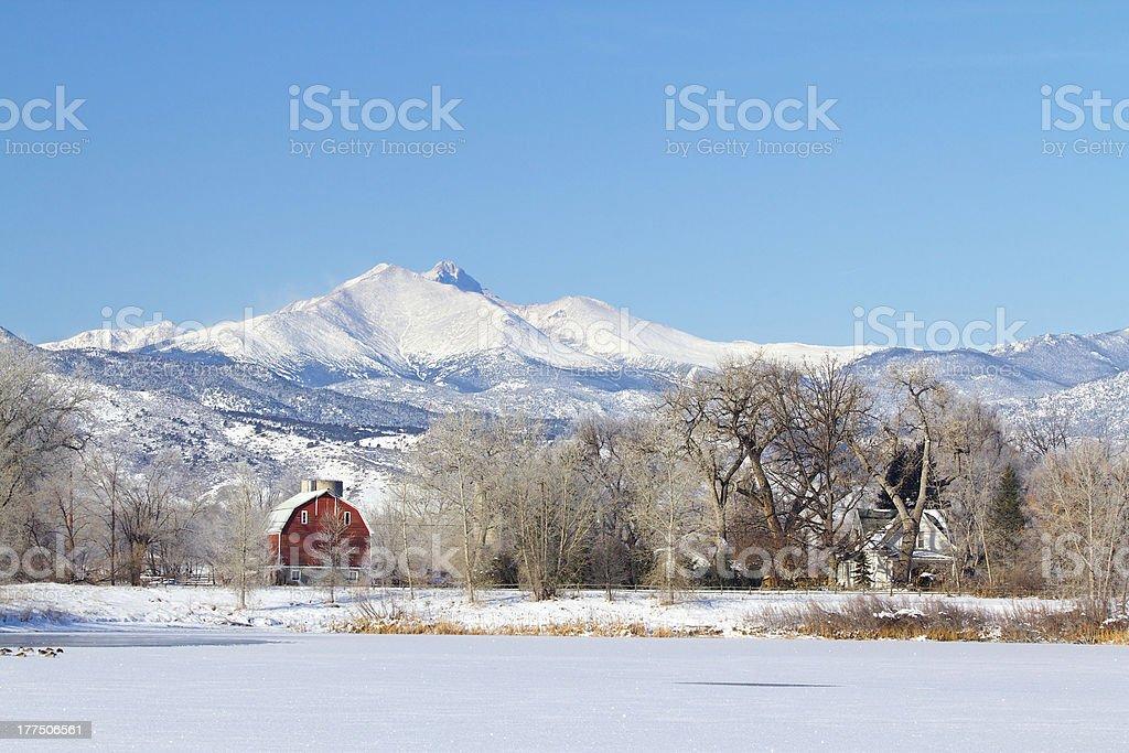 Pella Crossing Hygiene Colorado in the Winter stock photo