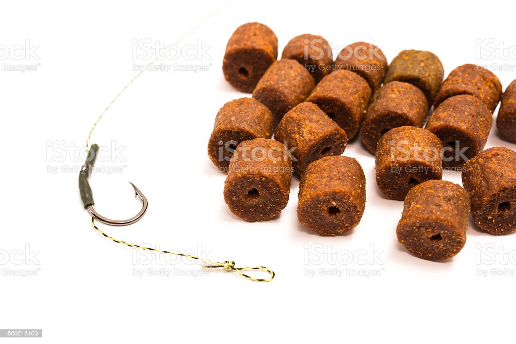 Pellet - Carp Fishing Bait and accessories stock photo