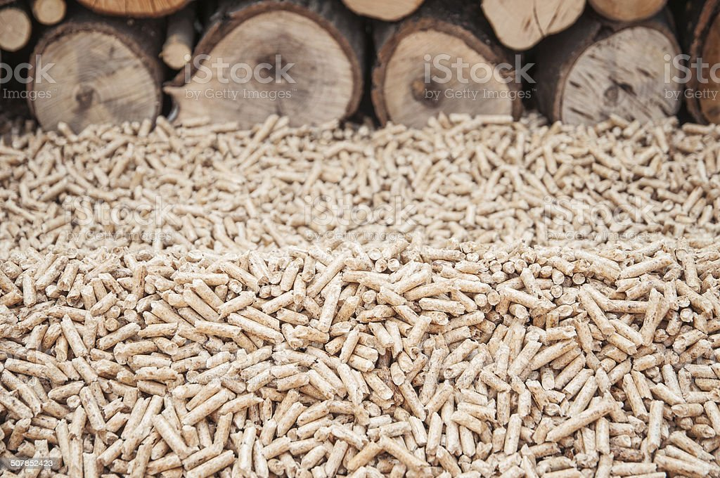 Pellets- Biomas stock photo