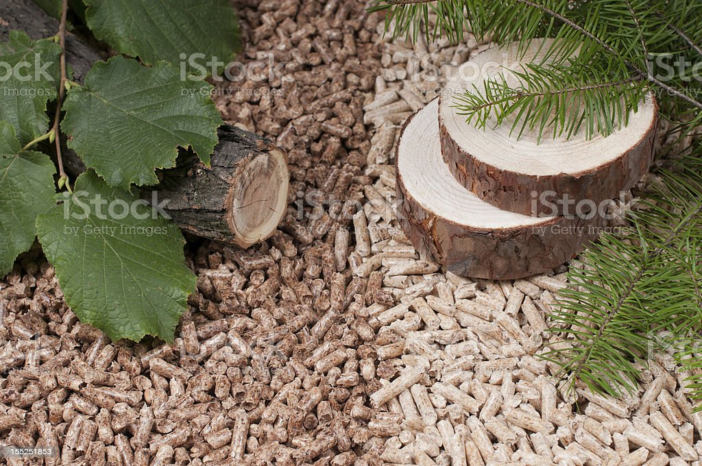 Pellets- biomass stock photo