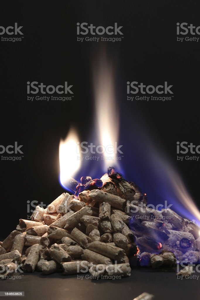 Pellets stock photo