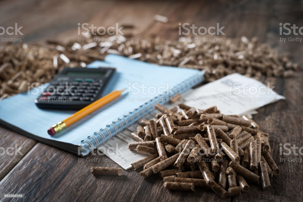 Pellets stock photo
