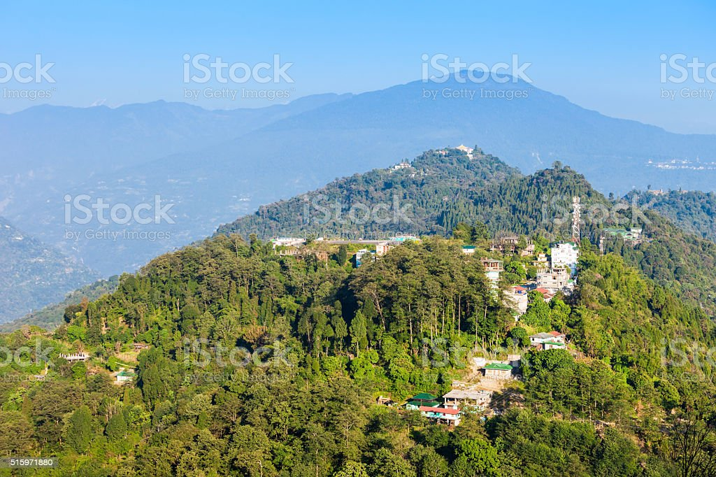 Pelling aerial view stock photo