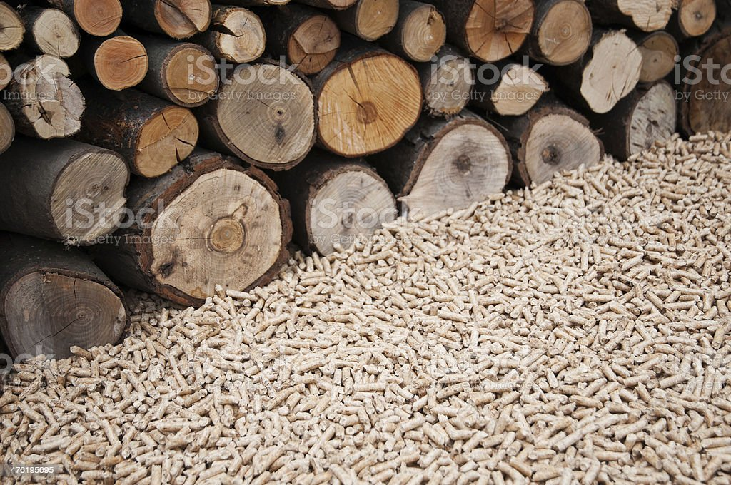 Pelllets- biomass royalty-free stock photo