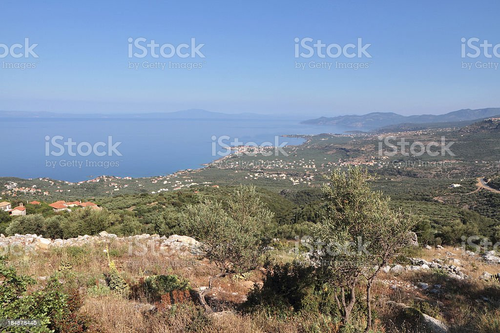 Peloponnese Coastline, The Mani Region, Greece royalty-free stock photo