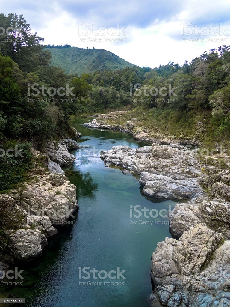 Pelorus River - The Hobbit stock photo