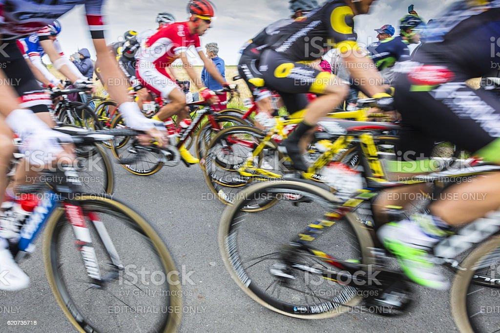 Peloton Abstract - Tour de France 2016 stock photo