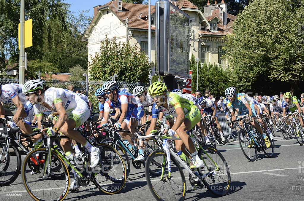 Peloton of the cycle race royalty-free stock photo