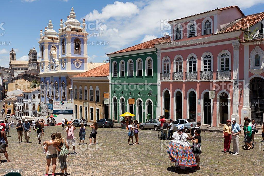 Pelourinho em Salvador, Brazil stock photo