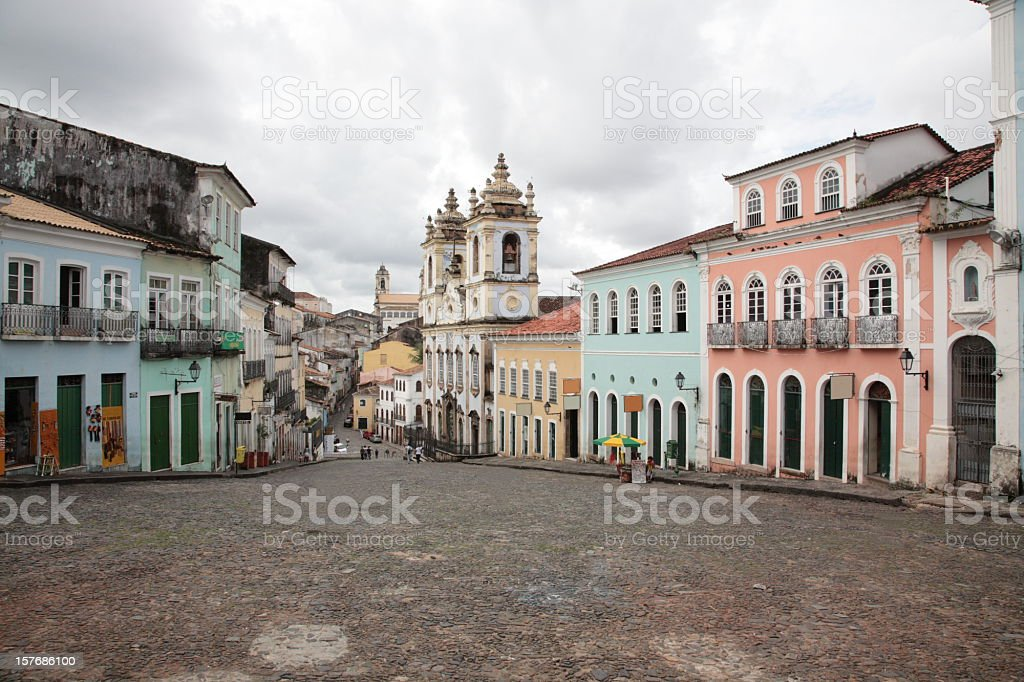 Pelourinho in Salvador, Bahia, Brazil. stock photo