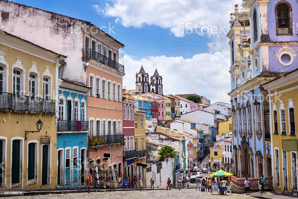 Pelourinho in Salvador da Bahia, Brazil stock photo