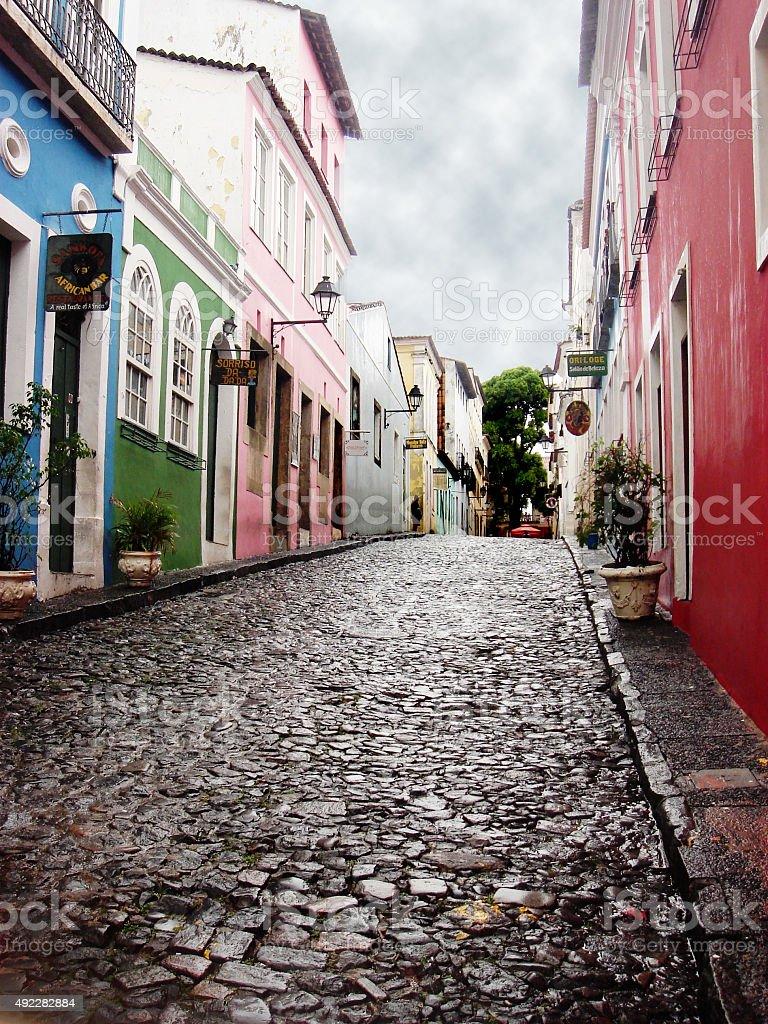 Pelourinho in Salvador stock photo