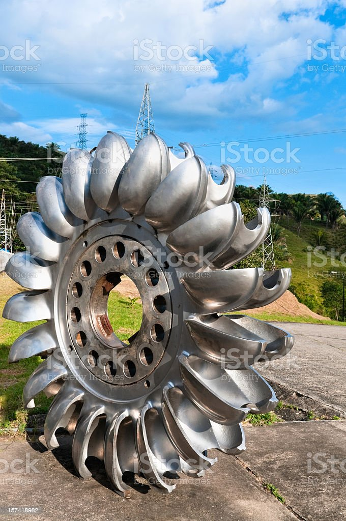Pelton Wheel stock photo