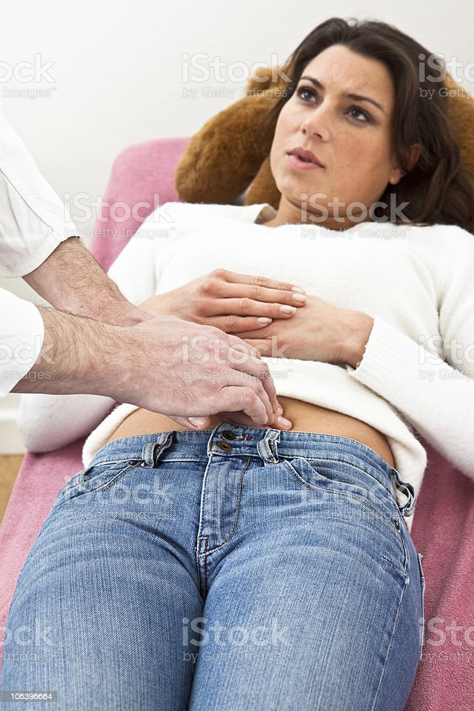 Pelvic examination royalty-free stock photo