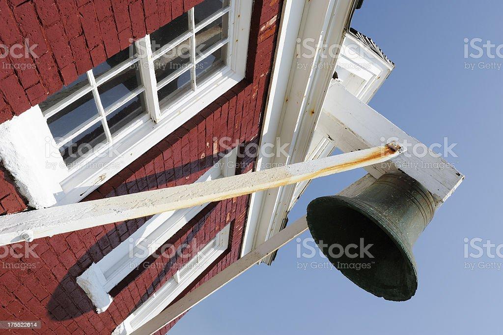 Pemaquid lighthouse bell stock photo