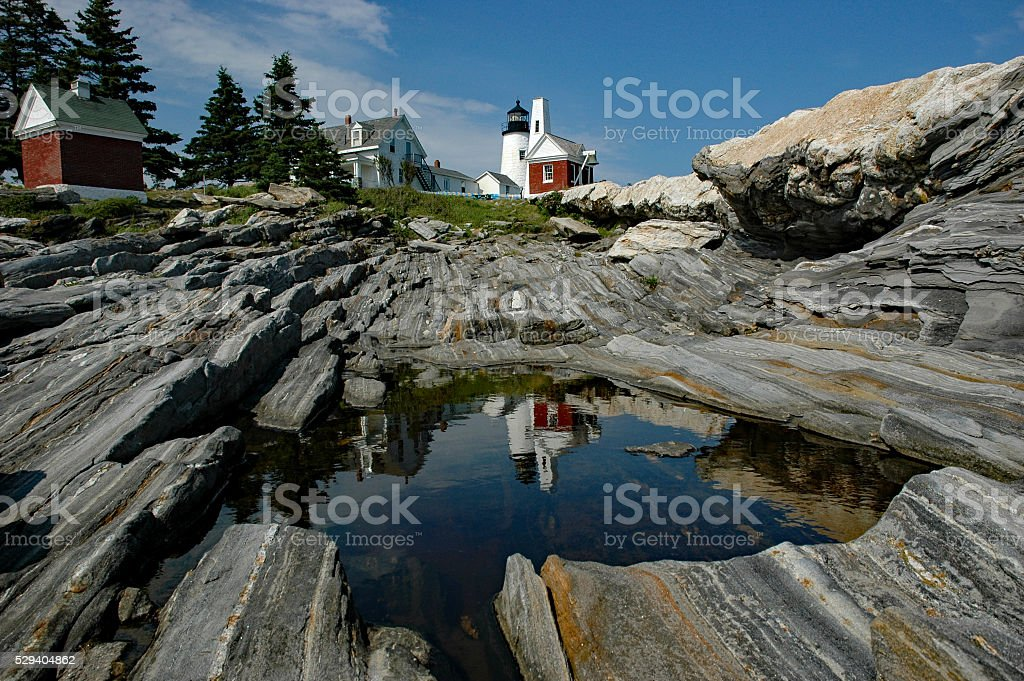 Pemaquid Lighthouse stock photo