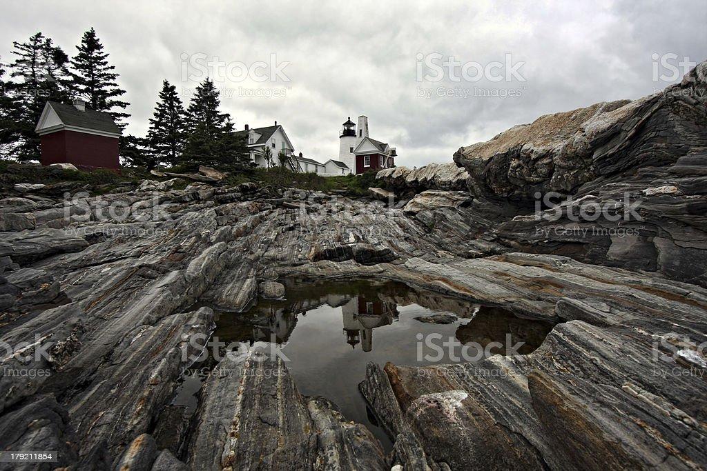 Pemaquid Lighthouse Reflection stock photo