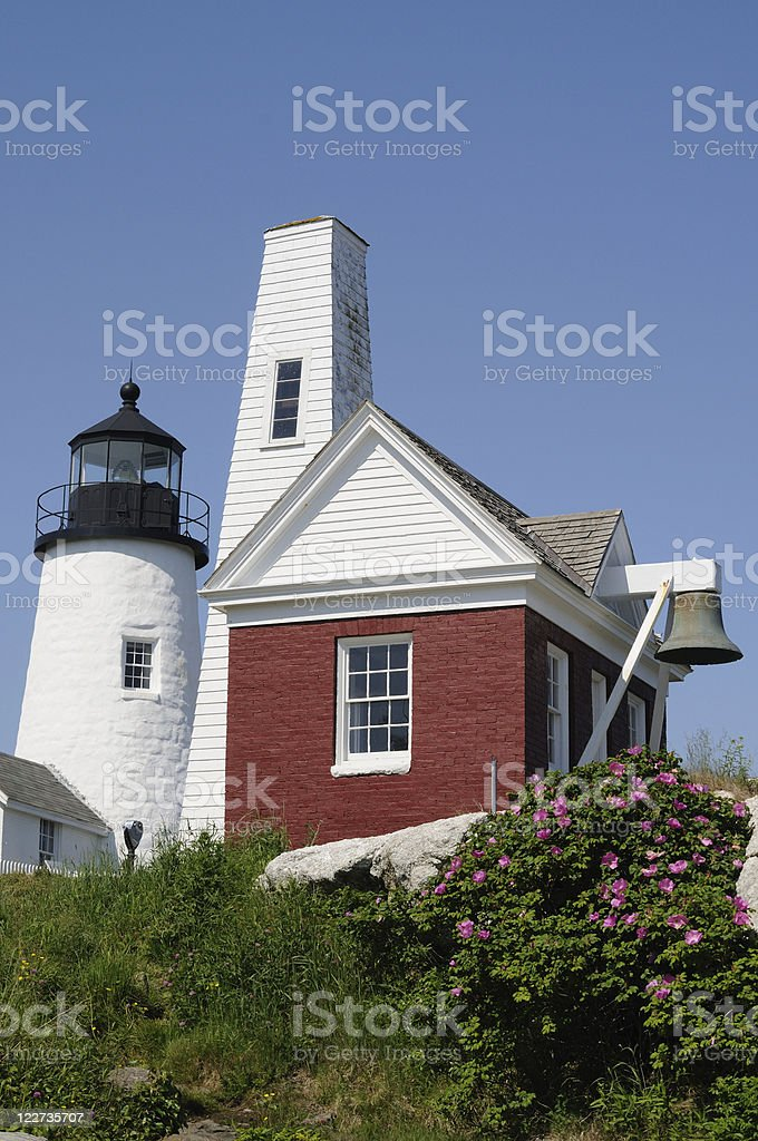 Pemaquid Point Light & Bell royalty-free stock photo