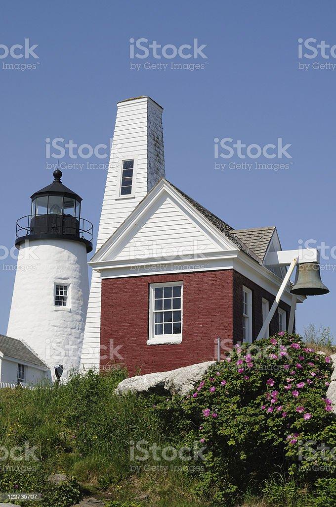 Pemaquid Point Light & Bell stock photo