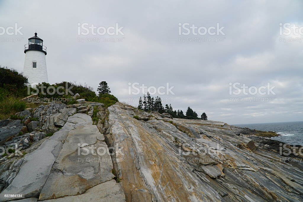 Pemaquid Point Light House stock photo
