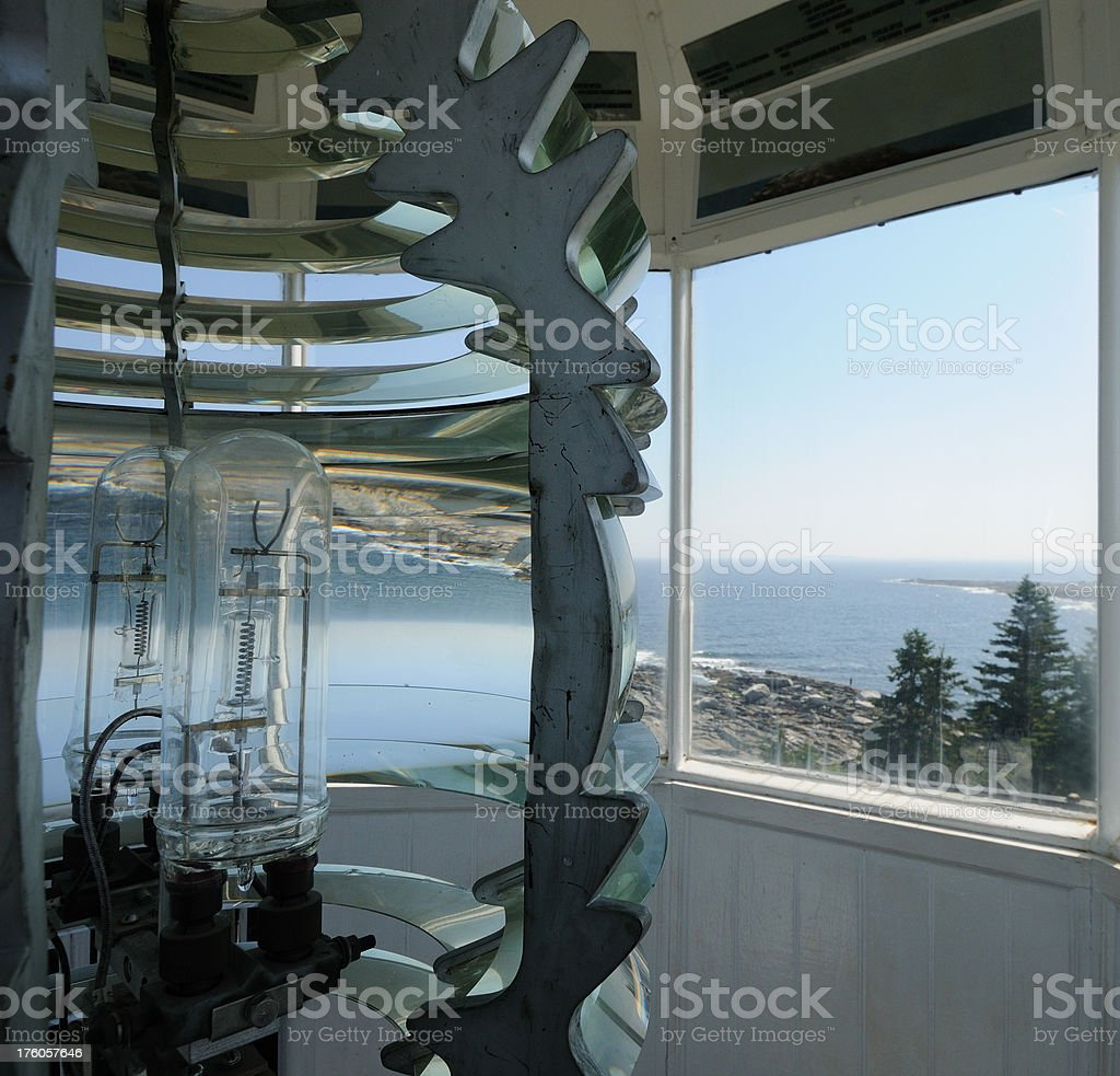 Pemaquid Point Light Interior stock photo