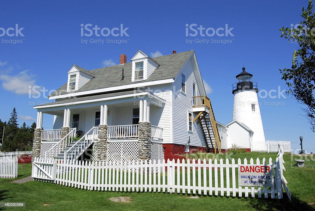 Pemaquid Point Light royalty-free stock photo