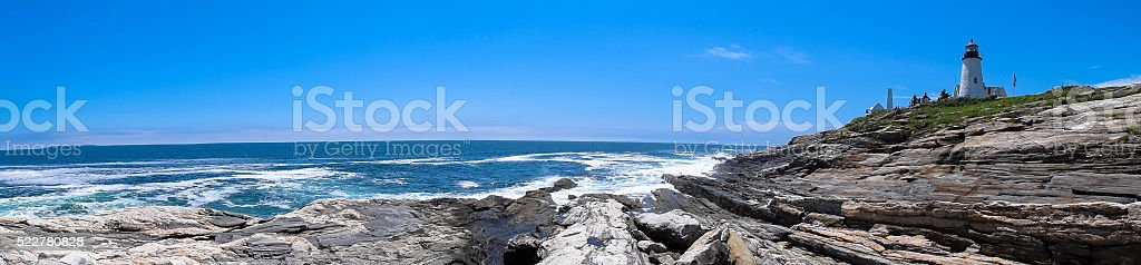 Pemaquid Point Light stock photo