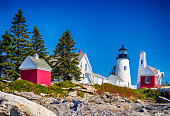 Pemaquid Point Lighthouse In Maine, USA